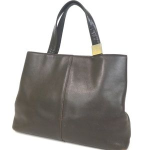 SOLD Authentic Vintage BURBERRY Brown Leather Bag
